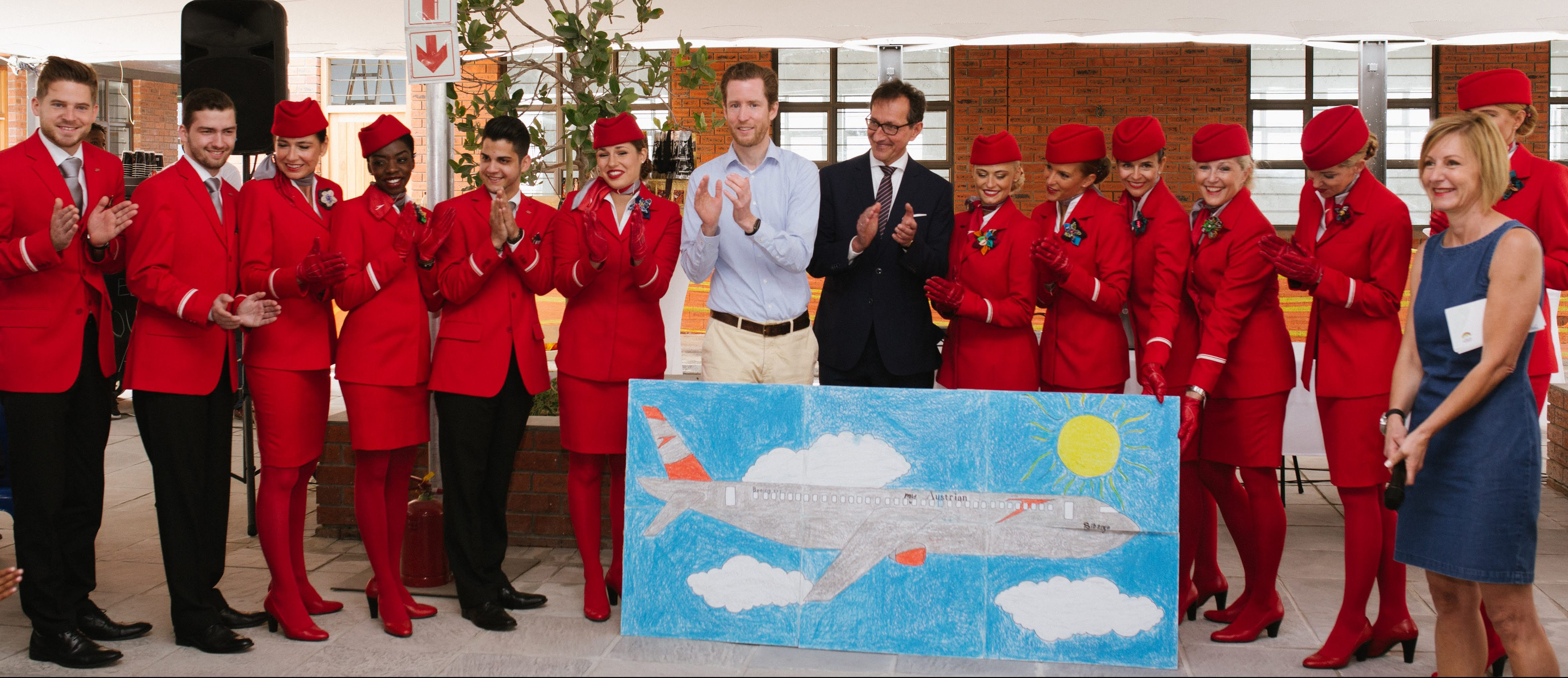 Austrian Airlines lands at iThemba School